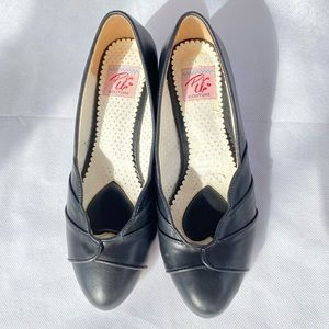 Pin Up Couture Women's Black Kitten Heel Shoes Size 9